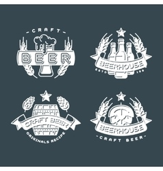 Craft beer bages set vector