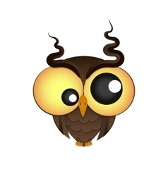 Crazy owl logo vector