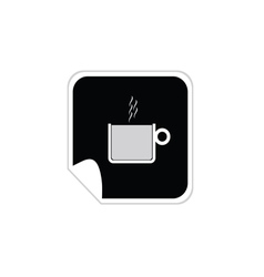 cup of coffee sticker vector image