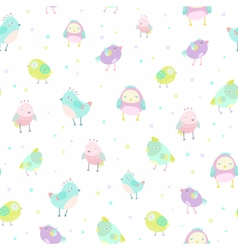 Cute birds pattern vector image