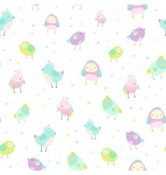 cute birds pattern vector image