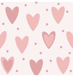 Cute unique seamless pattern background with pink vector image