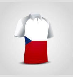 Czech republic flag on t-shirt vector