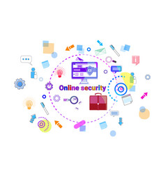 data protection online secutiry concept protection vector image