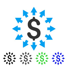 Dollar distribution flat icon vector