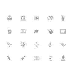education icons 32 pixels icons white series vector image
