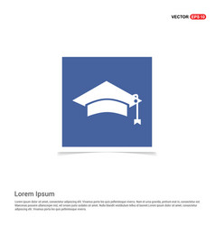 education simple icon - blue photo frame vector image