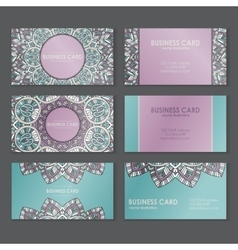 Ethnic business cards vector