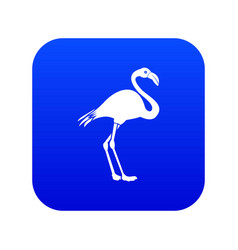 flamingo icon digital blue vector image