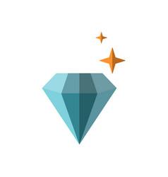 flat shiny diamond with vector image