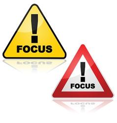 Focus alert vector image