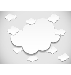 Frame with cut out clouds vector image
