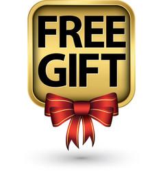 free gift golden label vector image