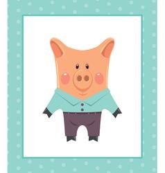 Funny piggy vector