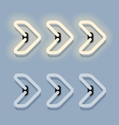 Glowing neon arrow eps10 vector