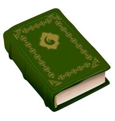 Green book koran symbol of religion islam vector