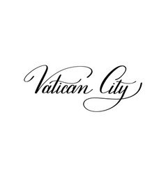 Hand lettering the name of the european capital vector