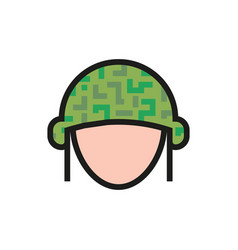 helmet icon on white background vector image