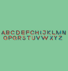 Impossible geometry letters impossible shape font vector