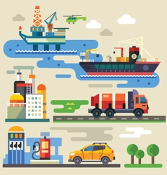 Industry and environment vector image