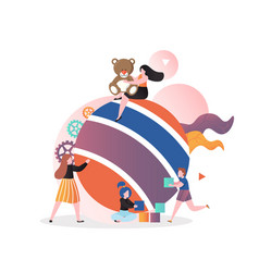 kindergarten concept for web banner vector image