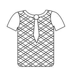 Line nice man wear to use in special days vector