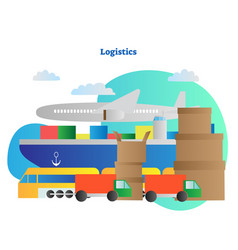 logistics distribution ways vector image