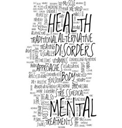 Mental health care text background word cloud vector