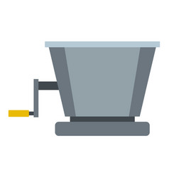 metal retro juicer or grinder icon isolated vector image