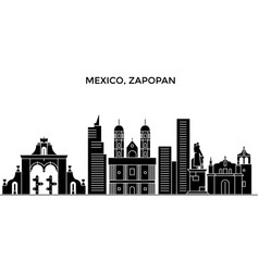 mexico zapopan architecture urban skyline with vector image