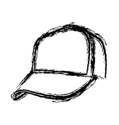 Monochrome sketch of baseball cap vector