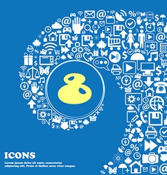 number Eight icon sign Nice set of beautiful vector image