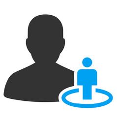 Portal moderator flat icon vector