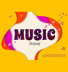 poster music festival concept style paper vector image