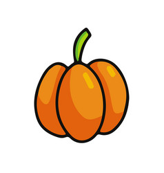 pumpkin cartoon icon vector image