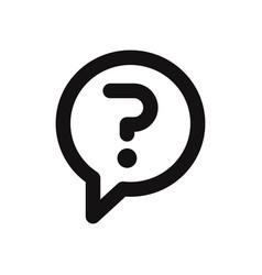 question mark in a speech bubble icon vector image