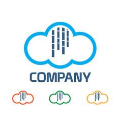 Rain cloud logo vector