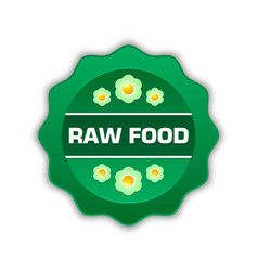 raw food badge vector image
