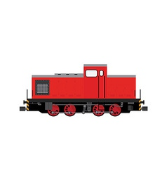 red locomotive vector image