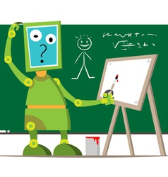 Robot in school vector