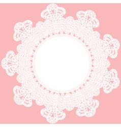 Round crochet doily vector
