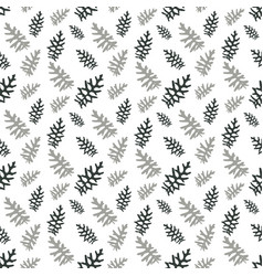 Seamless pattern colorful naturalistic leaves vector