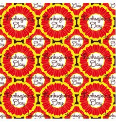 seamless pattern thanksgiving with flower vector image