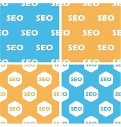 SEO pattern set colored vector image