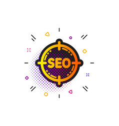 Seo target icon search engine optimization sign vector