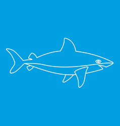Shark icon outline style vector