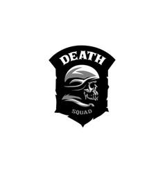 skull in a helmet vector image