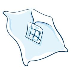 Sky blue blanket or color vector
