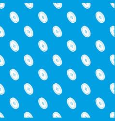 small shirt button pattern seamless blue vector image