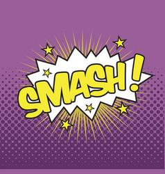 Smash wording sound effect vector